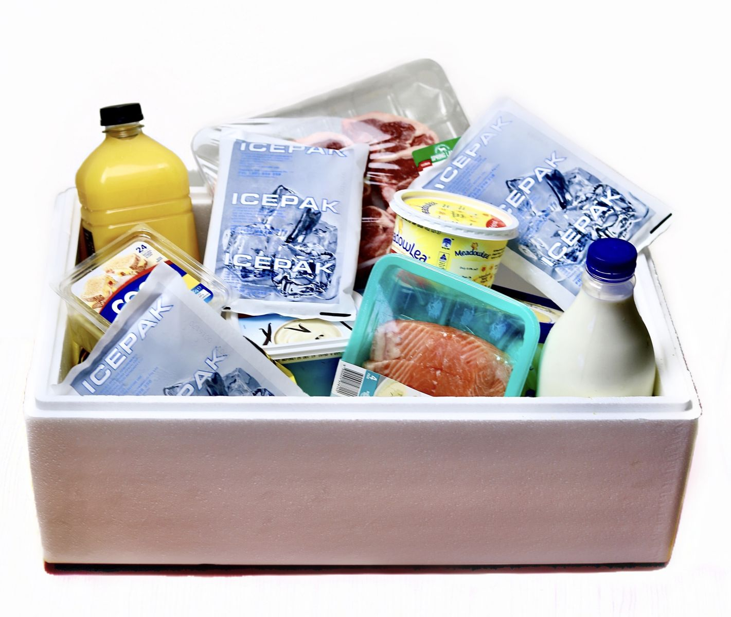 Pre Frozen gel ice packs for packaging and cold shipping of foods