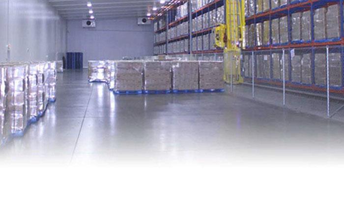 Frozen Gel Packs in freezer storage