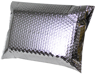 Recyclable thermal insulated foil bags for shipping food or pharmaceuticals
