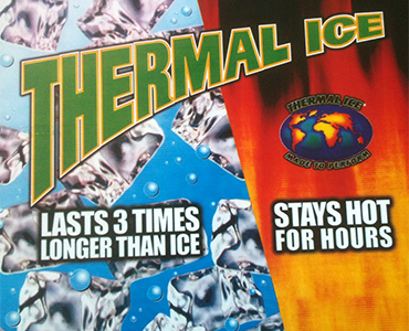 Thermal Ice Re-usable Hot and Cold Gel Packs last 3 times longer colder than ice, stays hot for hours